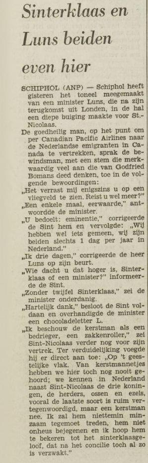 BN'er: Godfried Bomans (Sinterklaas)