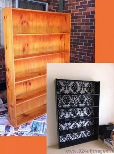 Oude boekenkast