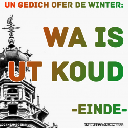 Een gedicht over de WINTER